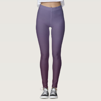 Plum Gradient Leggings