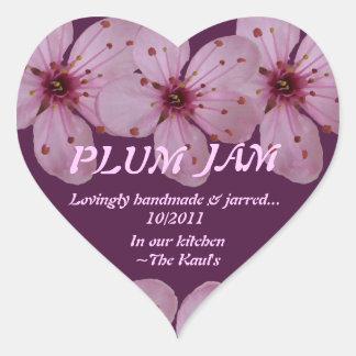 Plum Jam Jar Label (Personalize)