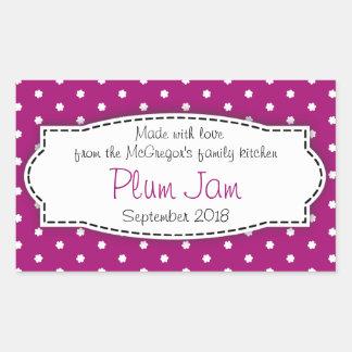 Plum jam preserve purple food label sticker