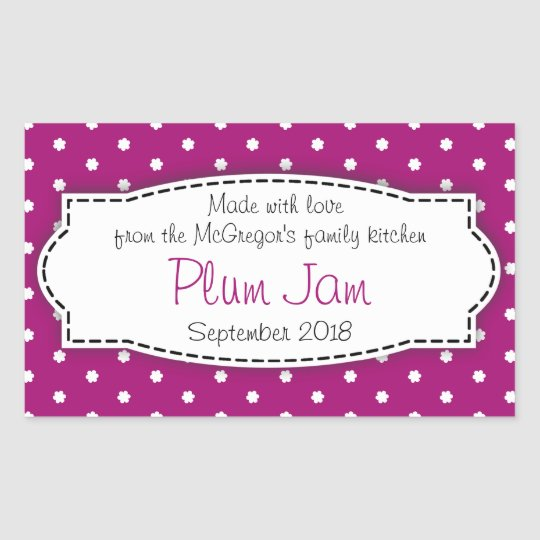 plum jam preserve purple food label sticker