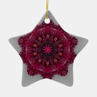 Plum Kaleidoscope Star Christmas Ornament