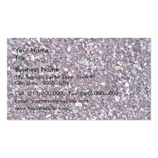 Plum limestone slate business card template