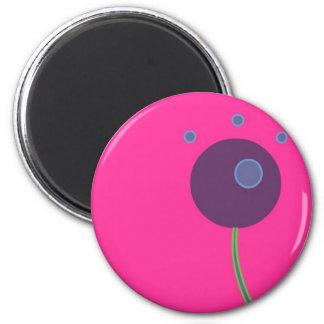 Plum 6 Cm Round Magnet