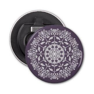 Plum Mandala Bottle Opener