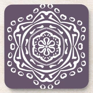 Plum Mandala Coaster