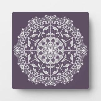 Plum Mandala Plaque