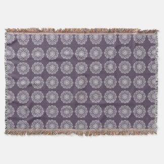 Plum Mandala Throw Blanket