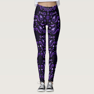 Plum Paisley Leggings