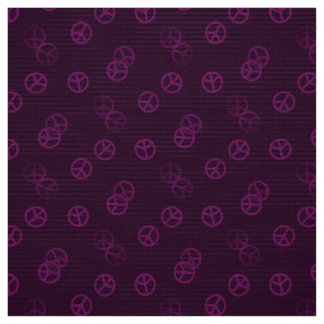 Plum Peace Sign Fabric