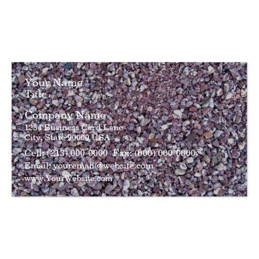 Plum Pink limestone slate Business Card