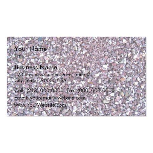 Plum Pink limestone slate Business Card Template
