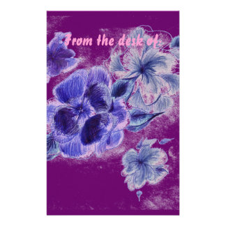 Plum Pink Personalized Stationery