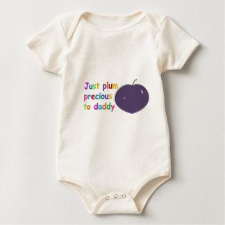 Plum Precious to Daddy Baby Bodysuit