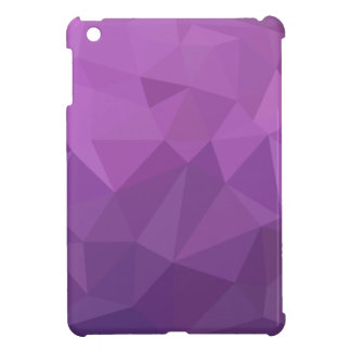 Plum Purple Abstract Low Polygon Background iPad Mini Covers