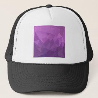 Plum Purple Abstract Low Polygon Background Trucker Hat