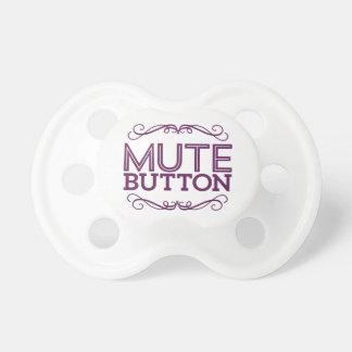 Plum Purple Funny Mute Button Dummy