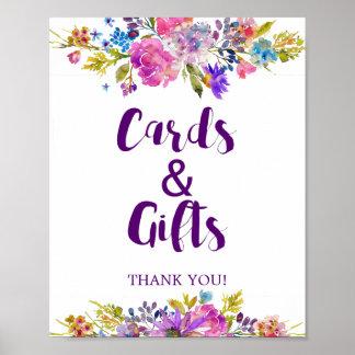 Plum Purple Garden Cards & Gifts Wedding Sign