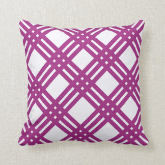 Plum Purple Lattice Cushion