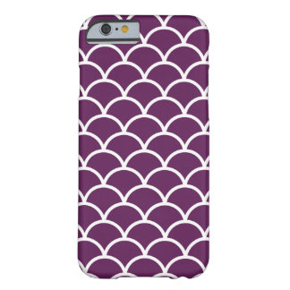 Plum Purple Modern Moroccan Scallop Pattern Barely There iPhone 6 Case