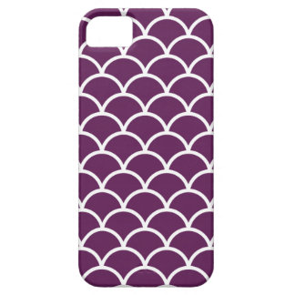 Plum Purple Modern Moroccan Scallop Pattern Case For The iPhone 5