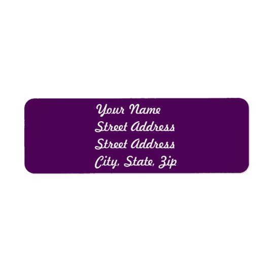 Plum Purple Return Address Sticker