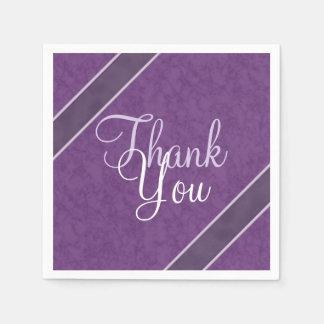 Plum Purple Thank You Paper Napkin