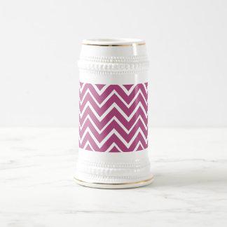 Plum purple whimsical zigzag chevron pattern coffee mug