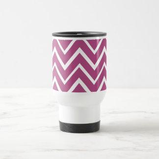 Plum purple whimsical zigzag chevron pattern coffee mugs