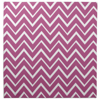 Plum purple whimsical zigzag chevron pattern napkin