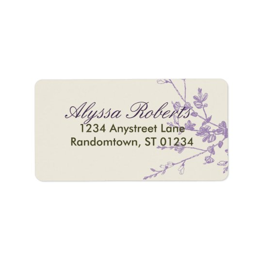 Plum Sage Address Label