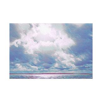 Plum Seascape Canvas Print