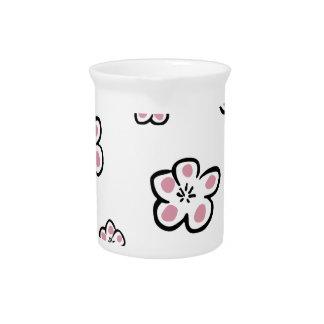 plum small Flower Beverage Pitchers