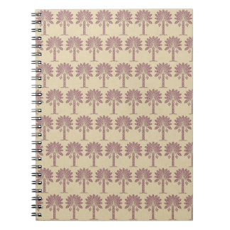 Plum Spice Moods Palm Spiral Notebook