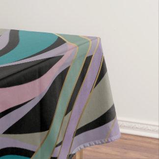 Plum Steel Moss Geometric WhimsicalArtwork™ Tablecloth