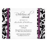 Plum Swirl Rehearsal Dinner Card Personalized Invitation