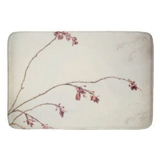 Plum Tree Branch with Spring Buds | Seabeck, WA Bath Mat