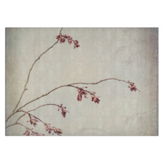 Plum Tree Branch with Spring Buds | Seabeck, WA Cutting Board