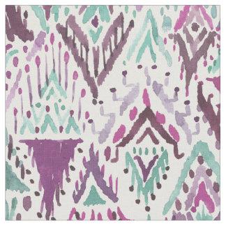 Plum Triumphant Boho Chic Tribal Ikat Fabric