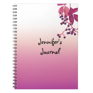 Plum Wash With Hanging Berries Notebook
