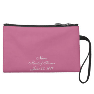 Plum Wedding Suede Wristlet