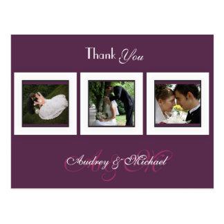 Plum/Wedding/Thank you postcards