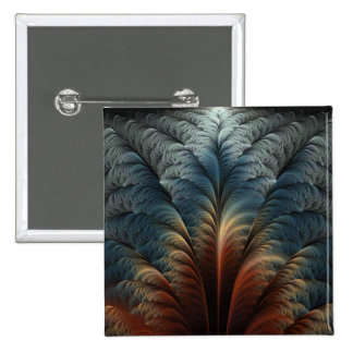 Plumage Abstract Art 15 Cm Square Badge