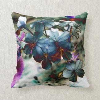 Plumbago Dusty Blue Flowers Cushion