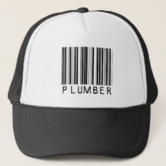 Plumber Bar Code Trucker Hat
