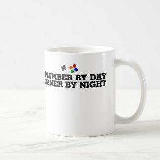 Plumber by day gamer by night coffee mug