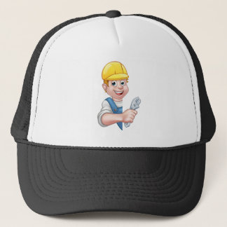 Plumber Cartoon Character Trucker Hat
