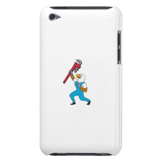 Plumber Eagle Standing Pipe Wrench Cartoon Barely There iPod Cover