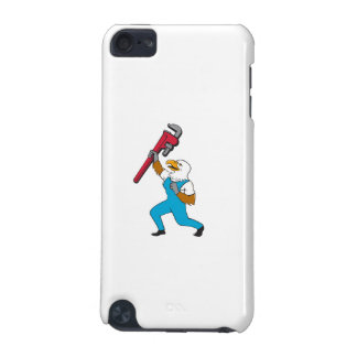 Plumber Eagle Standing Pipe Wrench Cartoon iPod Touch 5G Cover