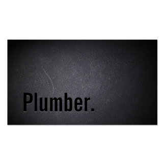 Plumber Elegant Dark Minimalist Pack Of Standard Business Cards