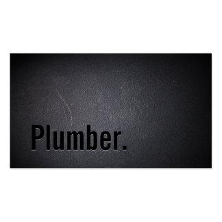 Plumber Elegant Dark Minimalist Pack Of Standard Business Cards